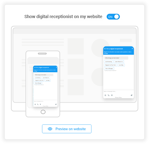 Digital Receptionist Screens