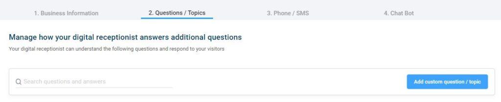 Add a Custom Question