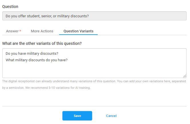 Question Variants